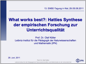 Olaf-Koeller-Hattie-Vortrag-Praesentation-IPN-EMSE