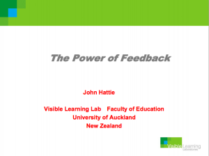 The-Power-of-Feedback-John-Hattie-Presentation-Visible-Learning-Lab