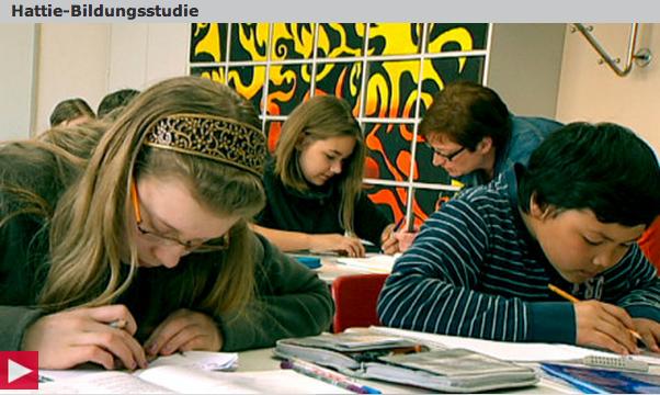 Umsetzung von Erkenntnissen der Hattie-Studie in Hessen. Auf das Bild klicken, um den 3sat-nano-Beitrag anzusehen.