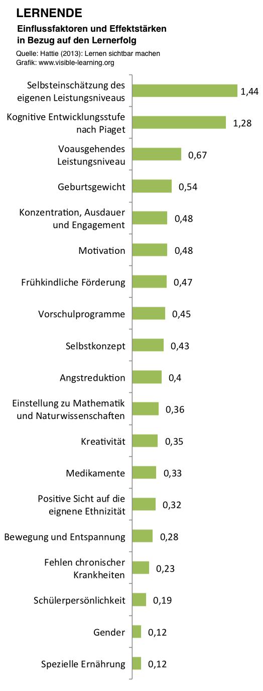 LERNENDE_hattie-studie-lernen-sichtbar-machen-rangliste-effektstaerken-einflussfaktoren-deutsch